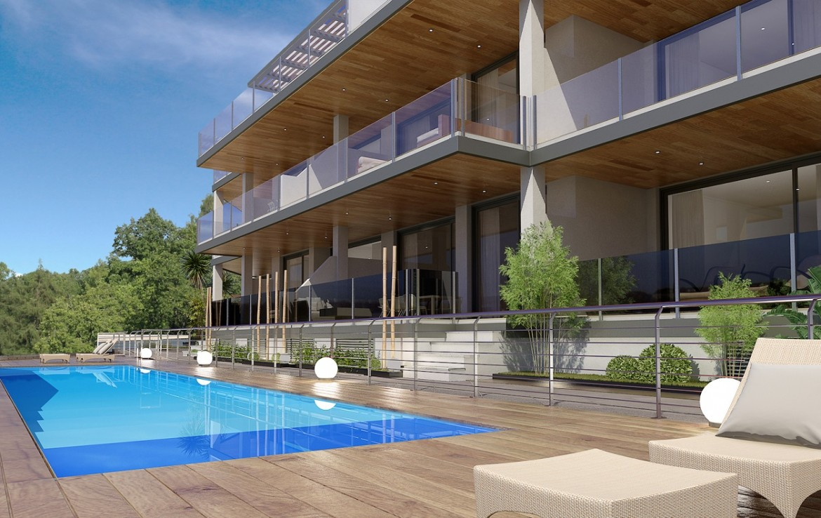 pool at Stunning New Boutique Development in Costalita
