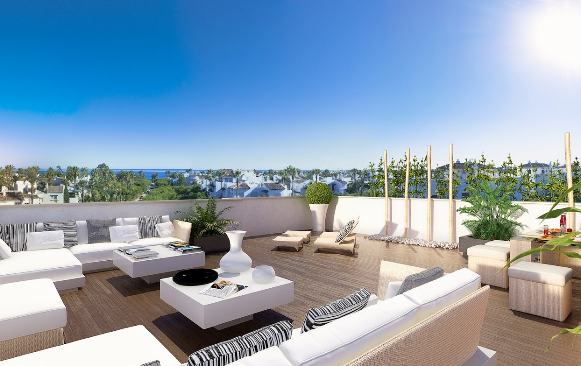 roof terrace of penthouses at Stunning New Boutique Development in Costalita