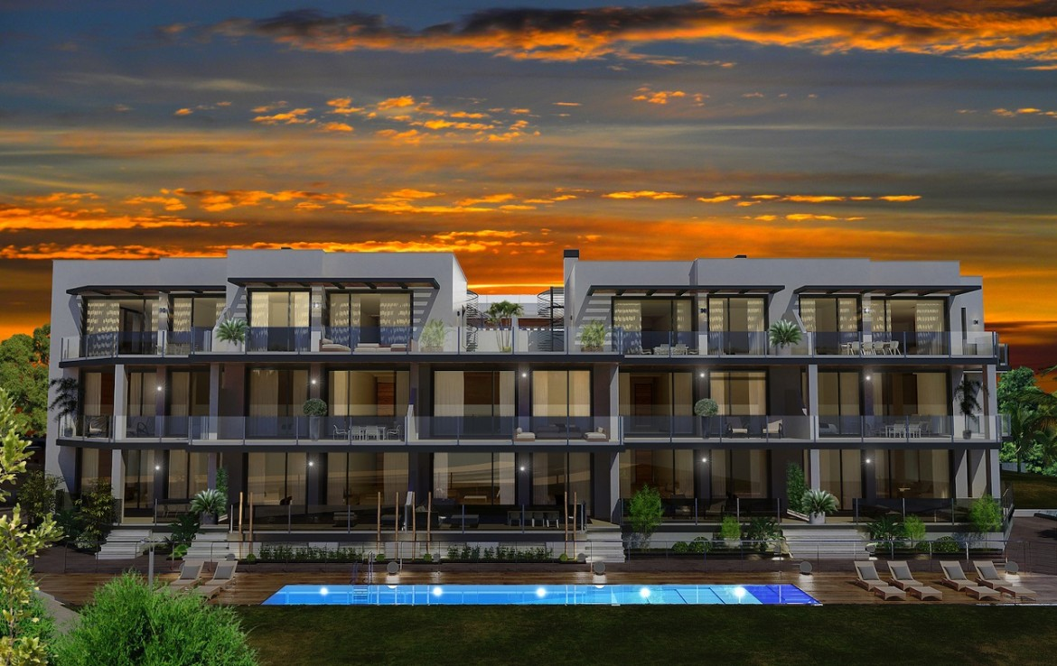 evening at Stunning New Boutique Development in Costalita
