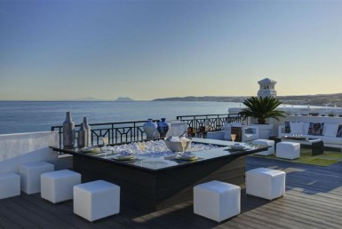 Gibraltar from Deluxe Beachfront Apartment in Estepona