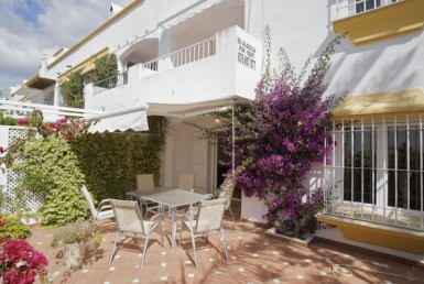Front of Beachside Townhouse on Marbella's Golden Mile