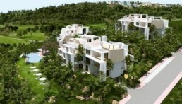 birds eye of Luxury New Apartment near Atalaya Golf
