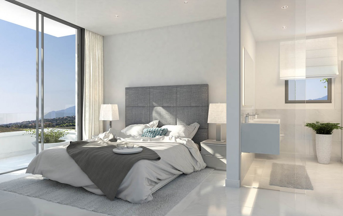 Master bedroom at New Luxury Apartments on New Golden Mile