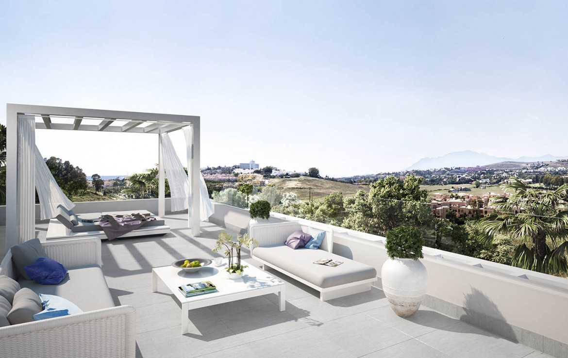 roof terrace at New Luxury Apartments on New Golden Mile