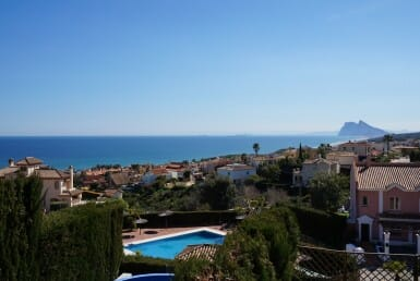 stunning Gibraltar views from La Alcaidesa Townhouse with Stunning Views