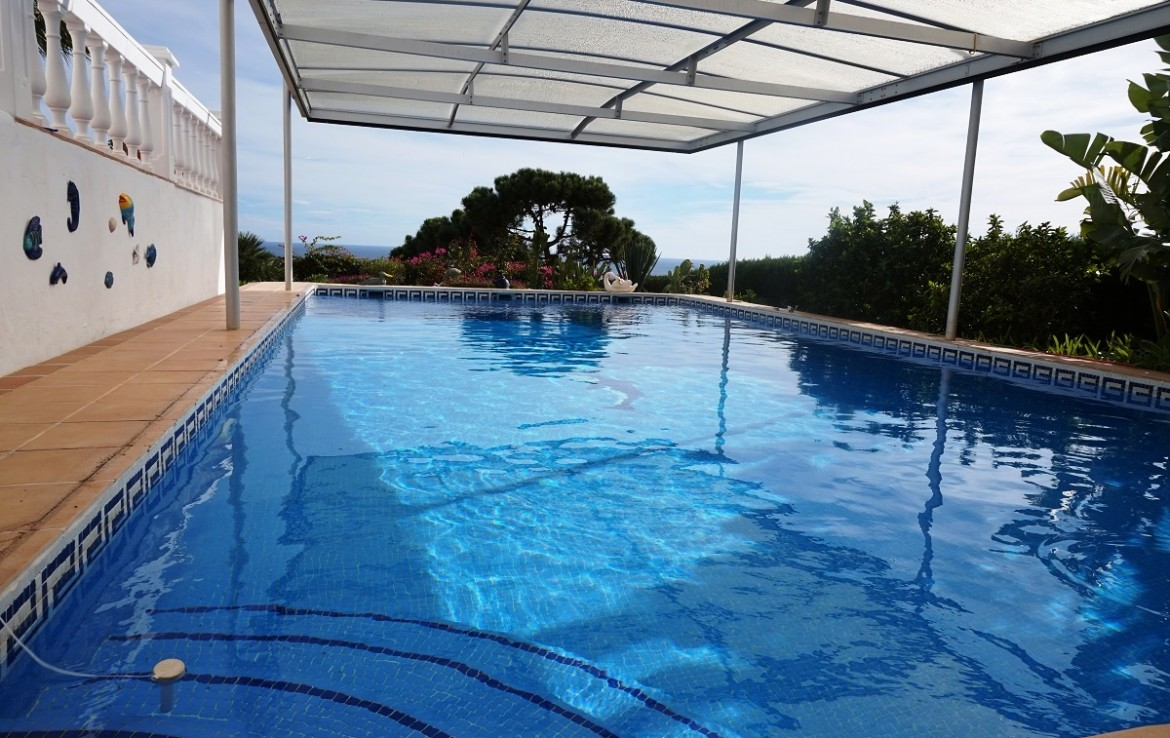 pool Manilva Villa with Stunning Sea Views