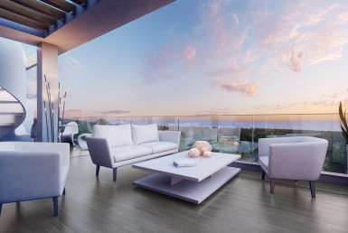 terrace of Sea View Penthouse on New Golden Mile