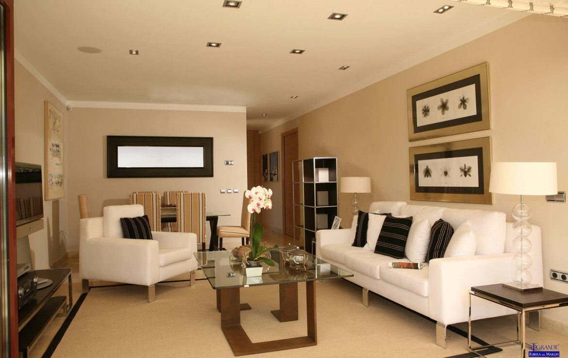 lounge of New Apartments in Sotogrande Marina