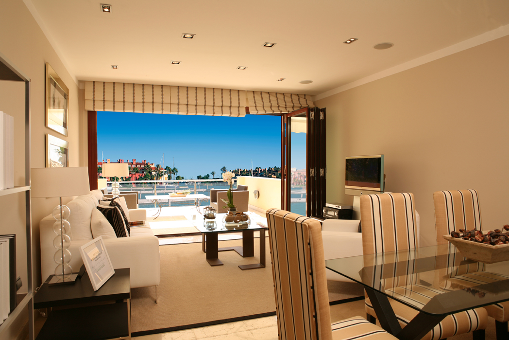 view from living room at New Apartments in Sotogrande Marina