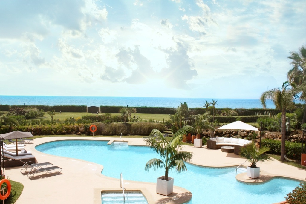 pool in Beachfront Apartment in Los Monteros, Marbella