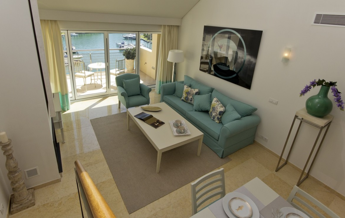 living room of New Apartments in Sotogrande Marina