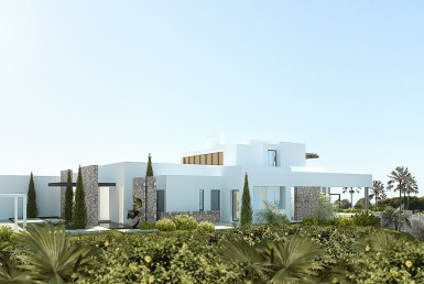 side view of Brand New Villa in Los Flamingos