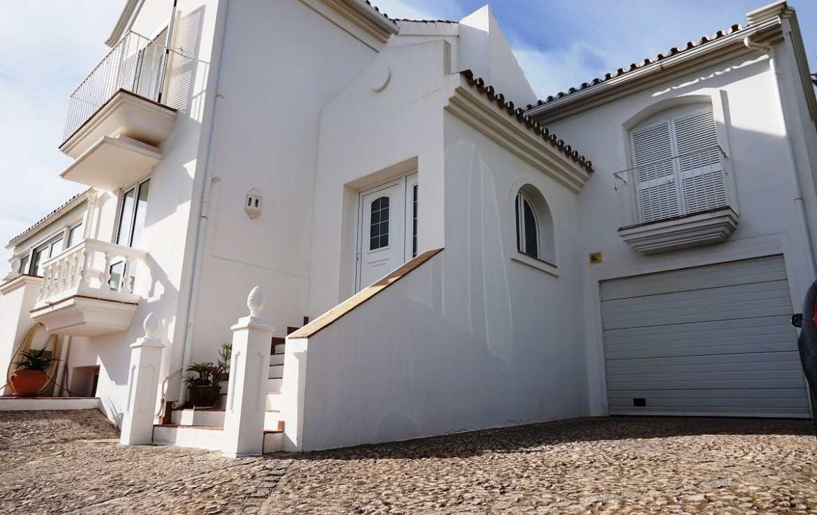 Side view of Manilva Villa with Stunning Sea Views