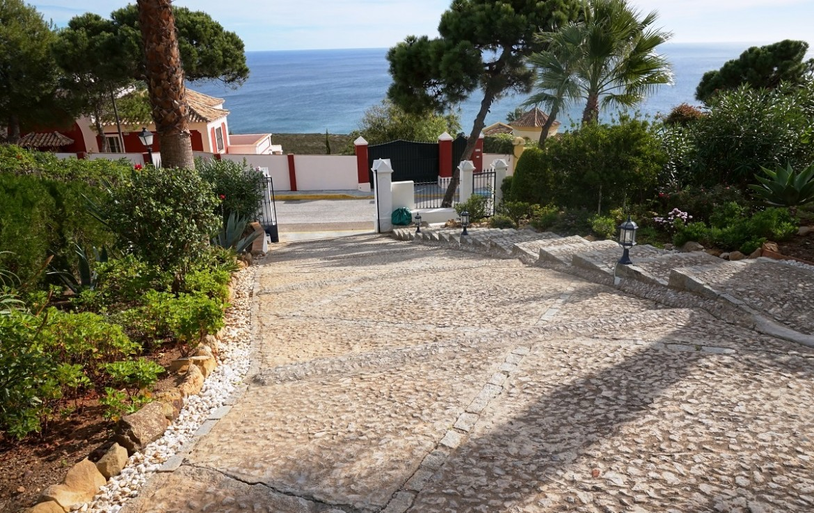 driveway of Manilva Villa with Stunning Sea Views