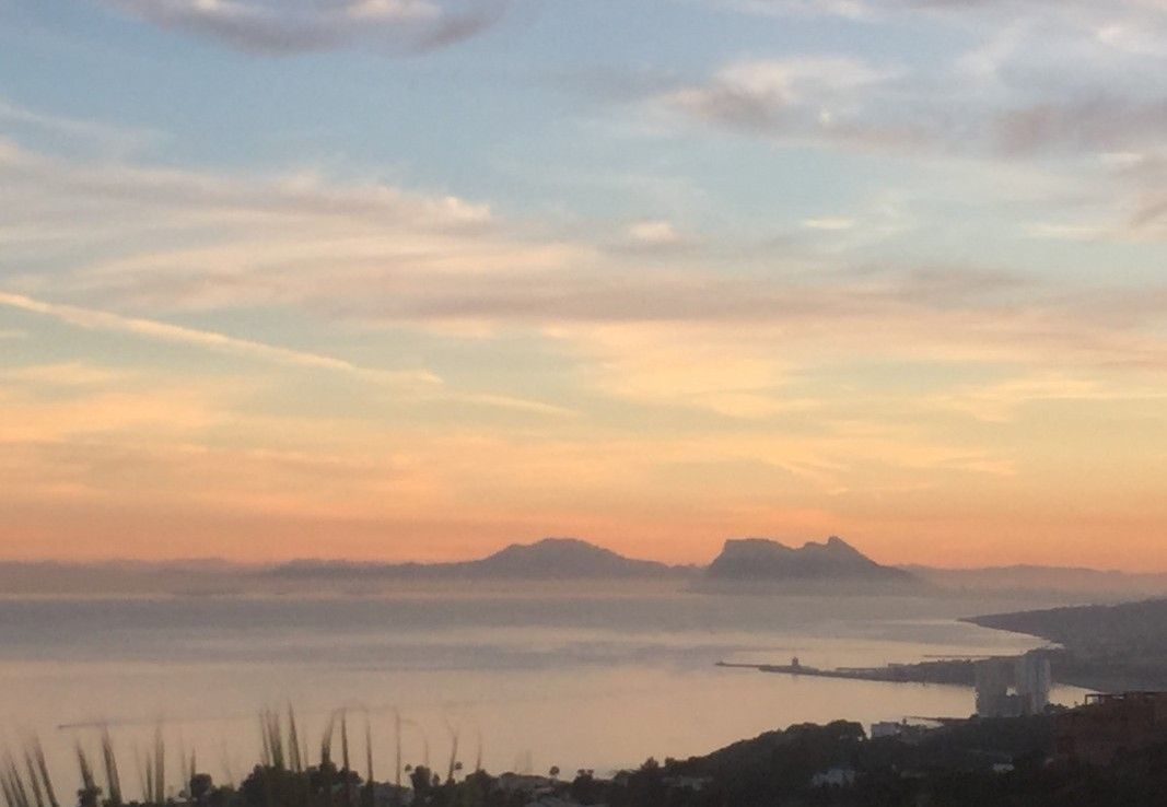 Gibraltar from Luxury Townhouse near Sotogrande