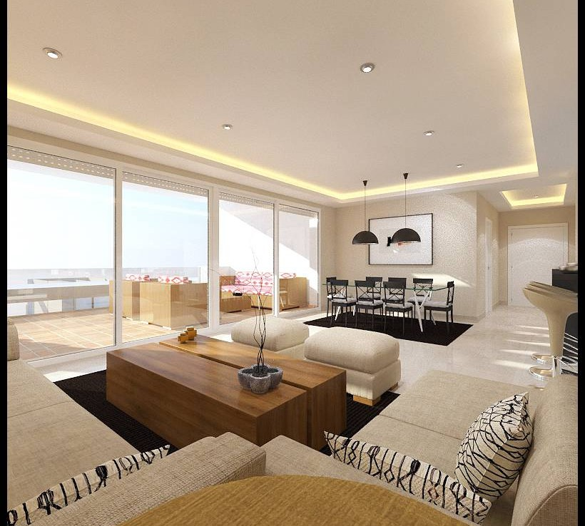 living area of Sea View Apartment in Atalaya Hills