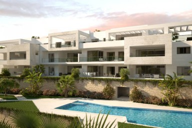 grounds & pool at new build residential development casares golf