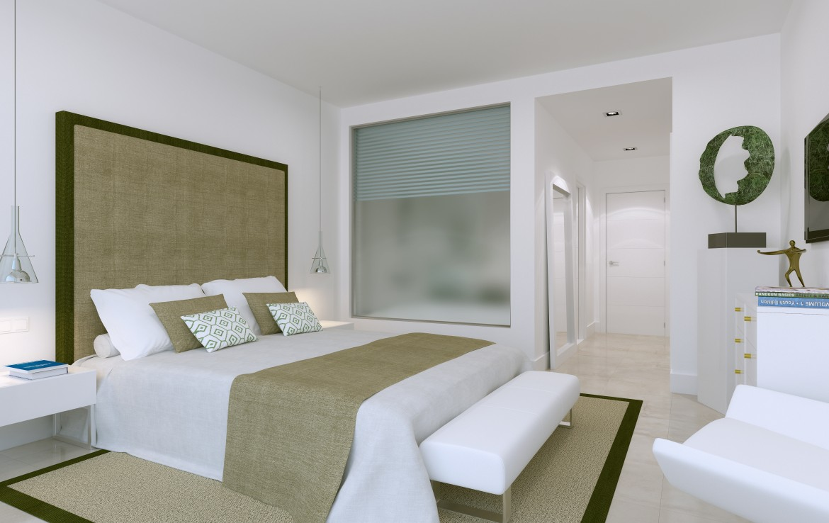 bedroom of Sea View Apartment in Atalaya Hills