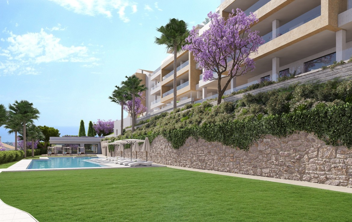 pool area of Sea View Apartment in Benalmadena