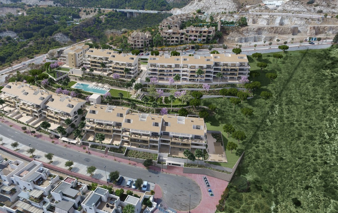 birds eye view of Sea View Apartment in Benalmadena
