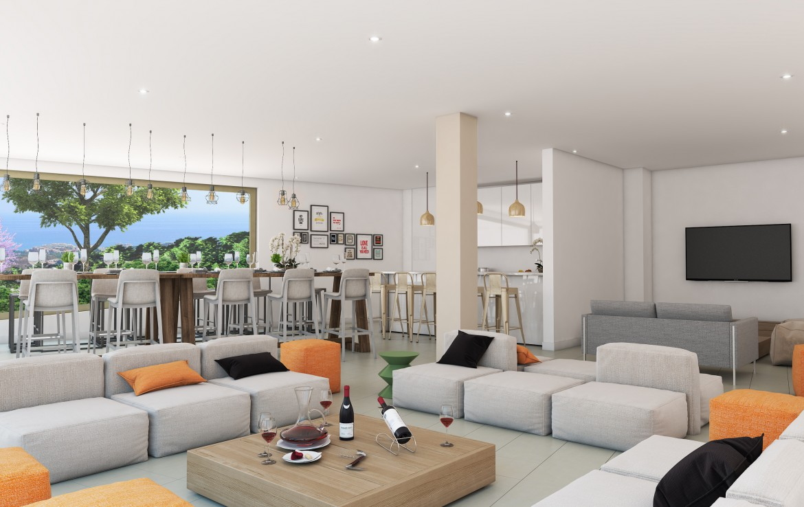 social room for Sea View Apartment in Benalmadena