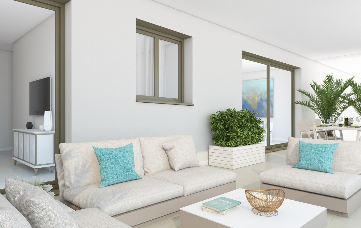 covered terrace of Sea View Apartment in Benalmadena