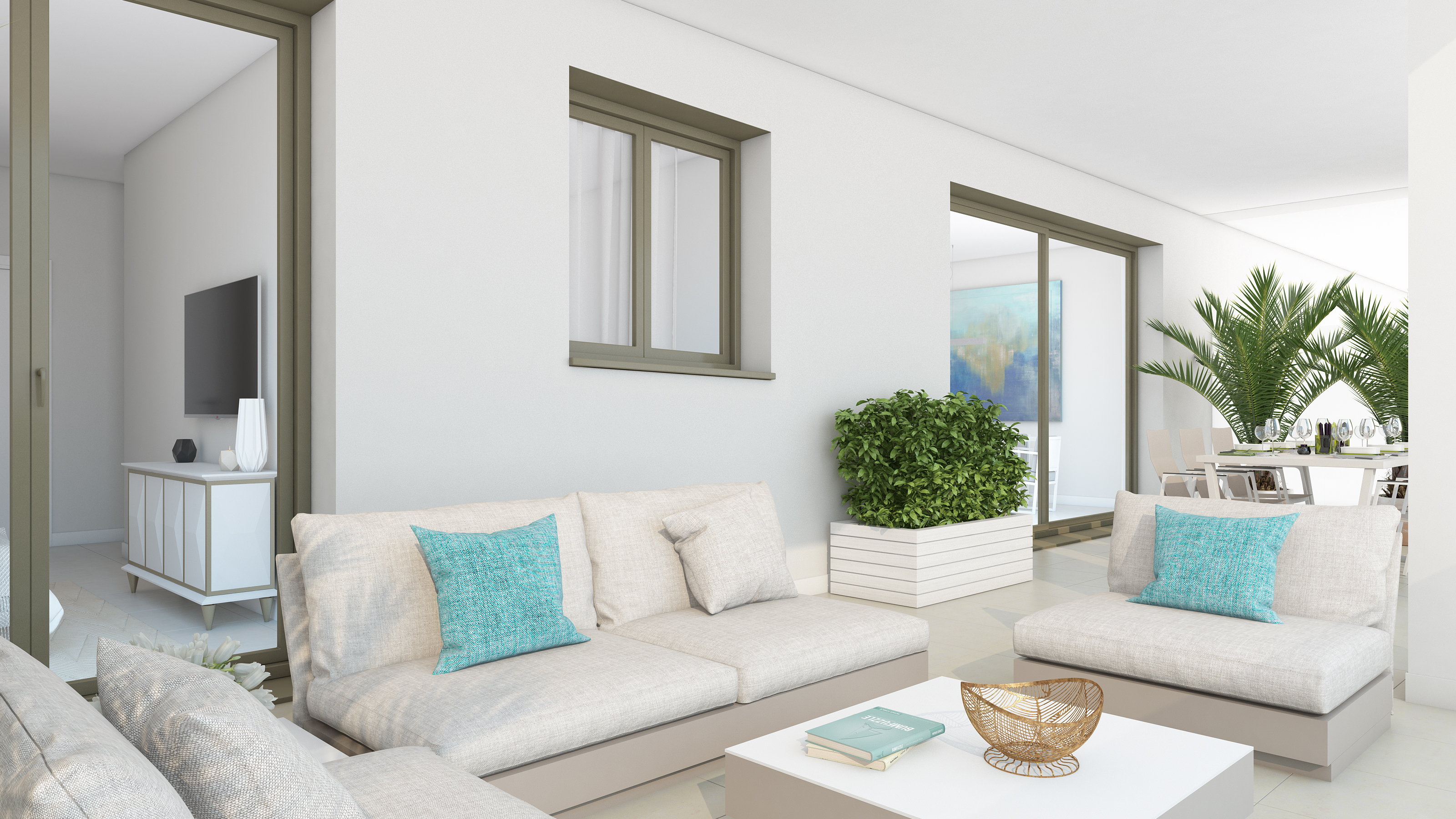 outside space at New Benalmadena Penthouse with Sea Views