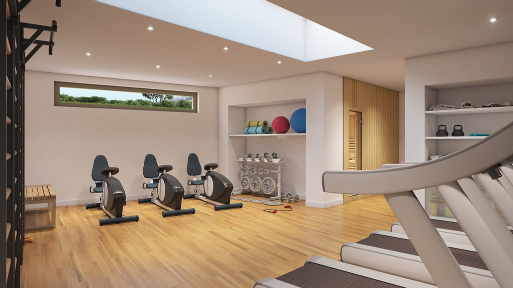 Gym at Sea View Apartment in Benalmadena