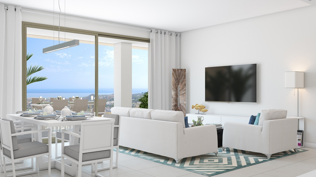 Living area at Sea View Apartment in Benalmadena