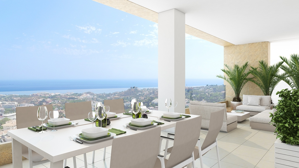 terrace view of Sea View Apartment in Benalmadena