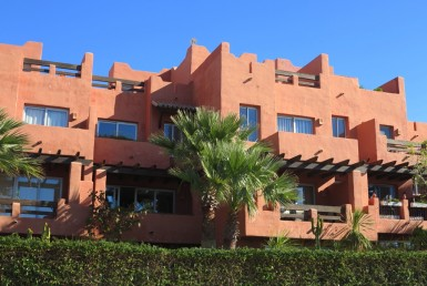 front of luxury townhouse near sotogrande
