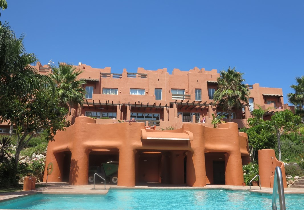 building & pool at Luxury Sea-View Townhouse near Sotogrande