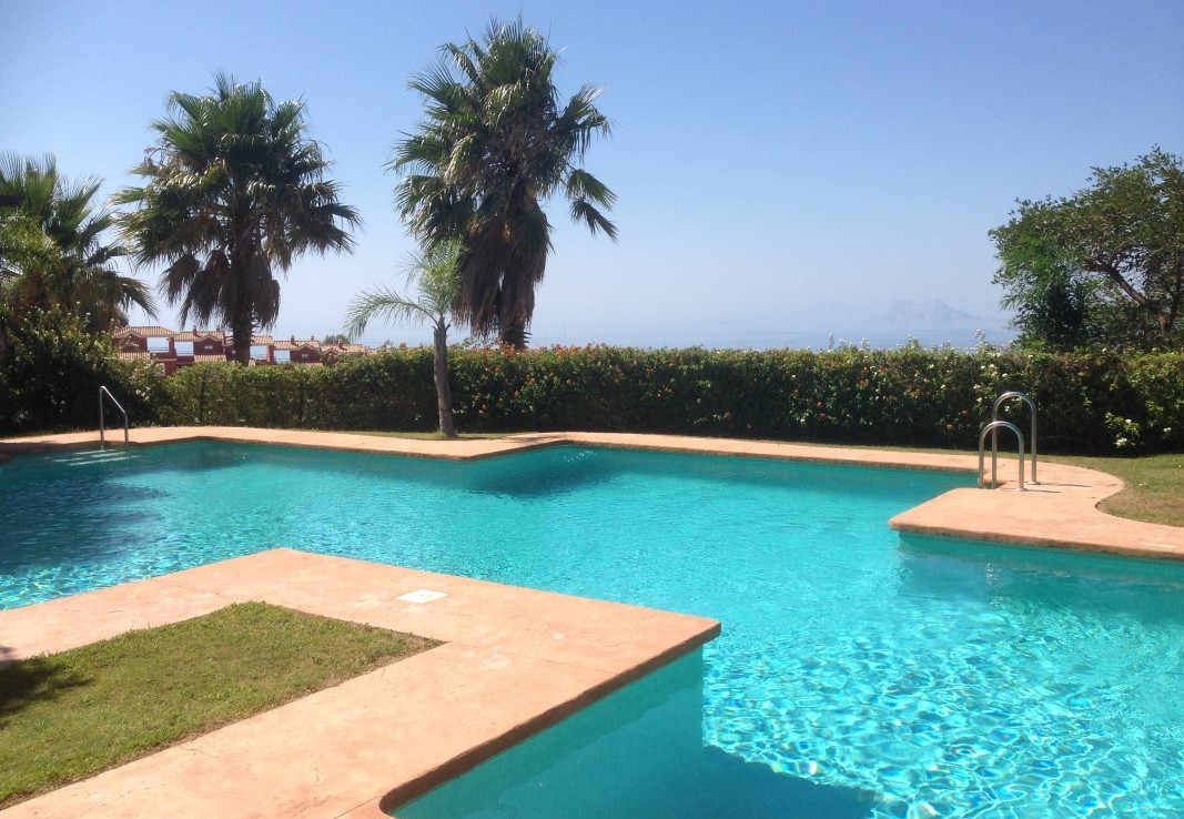 pool & view of Luxury Sea-View Townhouse near Sotogrande