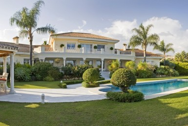 Panoramic view of Magnificent Villa in Nueva Andalucia