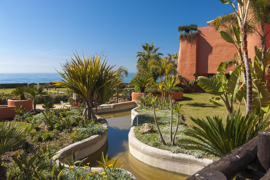 water feature at Beachfront Apartment in Los Monteros, Marbella