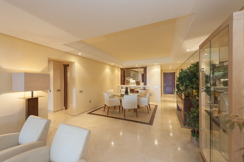 dining area of Beachfront Apartment in Los Monteros, Marbella