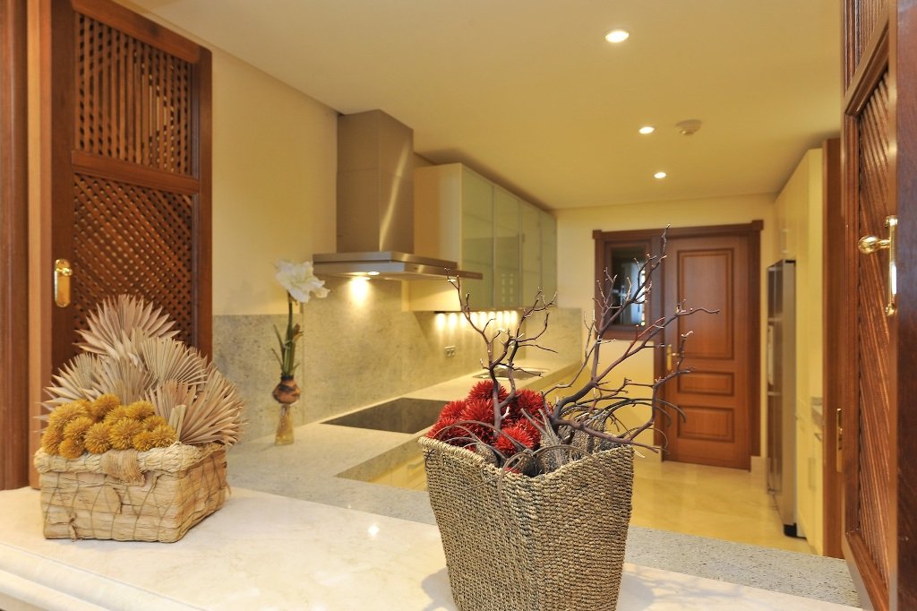 kitchen of Beachfront Apartment in Los Monteros, Marbella