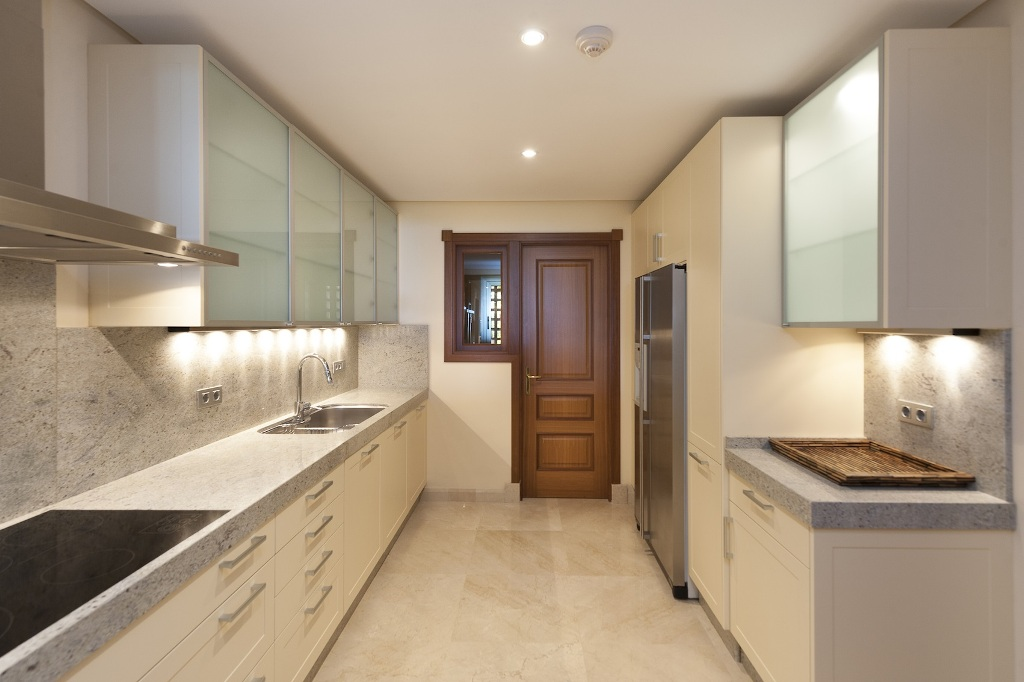 full kitchen at Beachfront Apartment in Los Monteros, Marbella